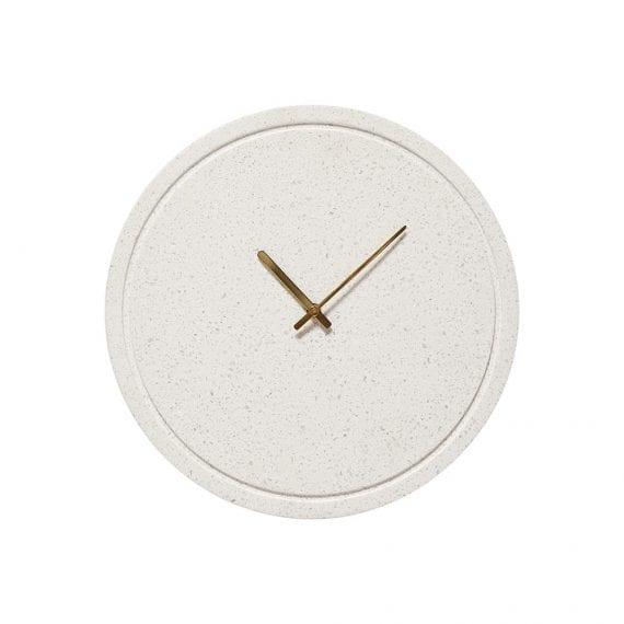 שעון טרצו לבן ופליז