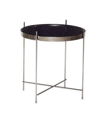 שולחן עגול מתכת מראה