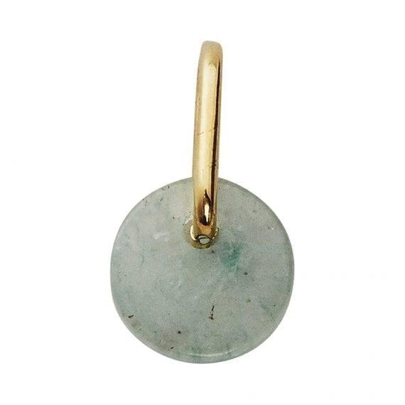 tema shop - תליון זהב אבן ירוקה
