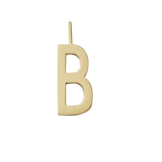 """תליון אות זהב B 10 מ""""מ"""