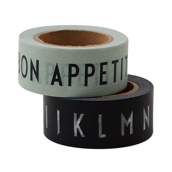 זוג ניירות דבק שחור וירוק bon appetit