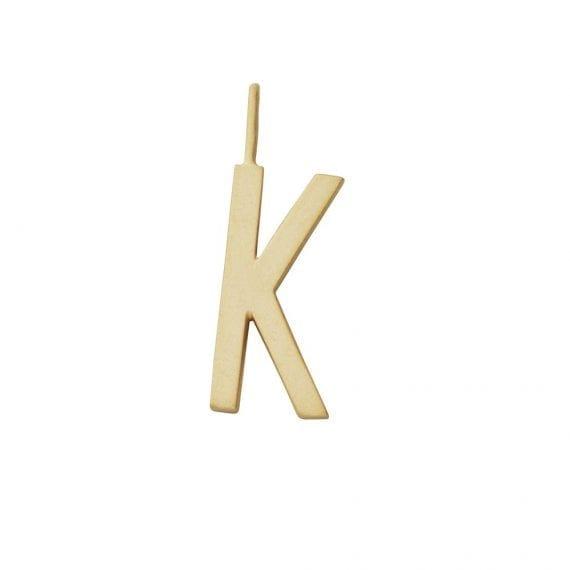 """תליון אות זהב K  10 מ""""מ"""