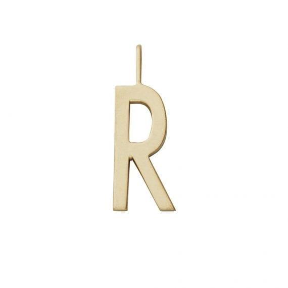 """תליון אות זהב R  10 מ""""מ"""