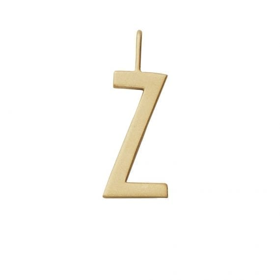 """תליון אות זהב Z  10 מ""""מ"""