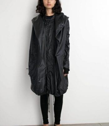 מעיל אן שחור ניילון one size