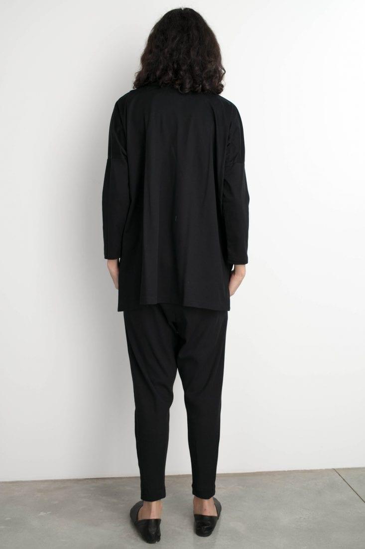 חולצת ג'סמין שחורה one size