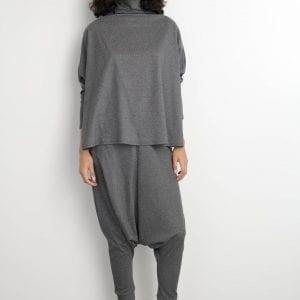 חולצת קלמטיס אפורה one size