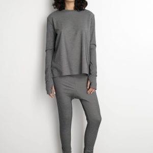 חולצת סוויט פי אפורה  one size