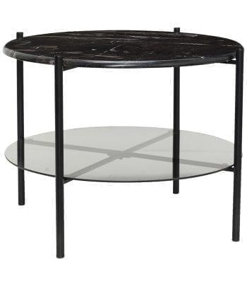 שולחן שחור, שיש, מתכת וזכוכית