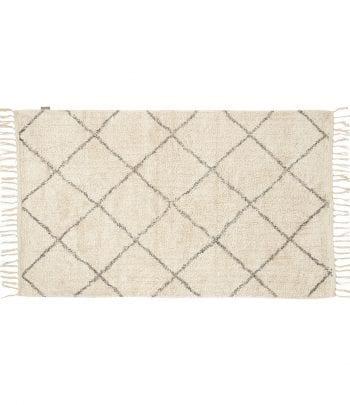 שטיח כותנה אפור לבן 90\150