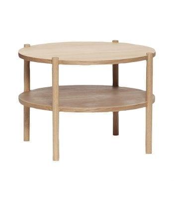 שולחן עץ אלון עגול