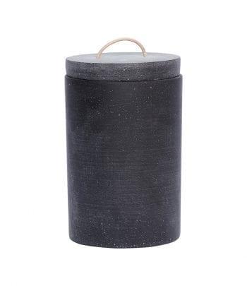צנצנת איחסון עם מכסה שחורה