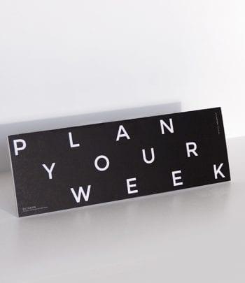 יומן לתכנון שבועי plan your week