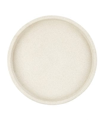 ZAKKIA Concrete Round Tray white 350x405 - מגש בטון לבן עגול