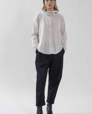 HILA FEINBERG הלה פיינברג FW21 חולצה מכופתרת אבן