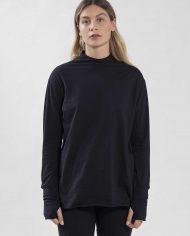 HILA FEINBERG הלה פיינברג FW21 חולצת אגודל שחורה