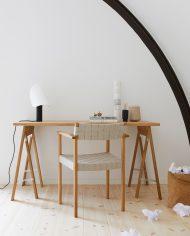כסא אלון לבן אווירה